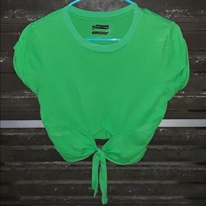 Urban Outfitters Green Tie Tee